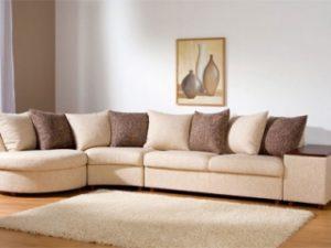 Перетяжка углового дивана на дому в Орле